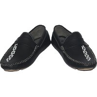 Red Run Men's Black Slip On Casual Shoes