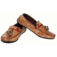 Red Run Men's Brown Slip On Casual Shoes