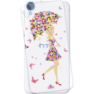 Snooky Printed Transparent Silicone Back Case Cover For HTC Desire 820