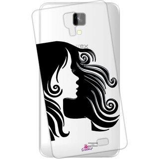 Snooky Printed Transparent Silicone Back Case Cover For Intex Aqua Y2 1GB