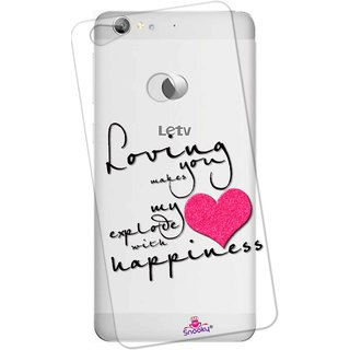 Snooky Printed Transparent Silicone Back Case Cover For LeEco Le 1s