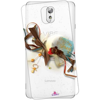Snooky Printed Transparent Silicone Back Case Cover For Lenovo Vibe P1m