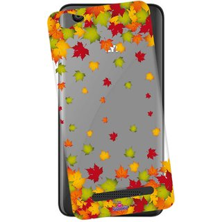 Snooky Printed Transparent Silicone Back Case Cover For Lyf Flame 1