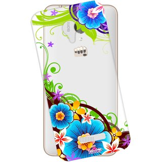 Snooky Printed Transparent Silicone Back Case Cover For Micromax Canvas Spark Q380