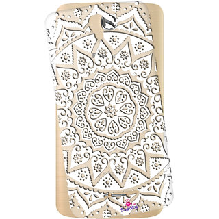 Snooky Printed Transparent Silicone Back Case Cover For Panasonic P50 Idol