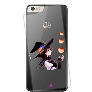 Snooky Printed Transparent Silicone Back Case Cover For Micromax Canvas Knight 2 E471