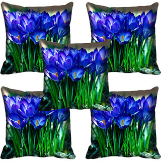meSleep Flower Digital printed Cushion Cover (20x20) - 20CD-59-117-05