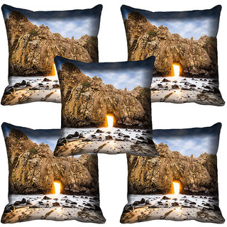 meSleep Nature Digital printed Cushion Cover (20x20) - 20CD-64-135-05