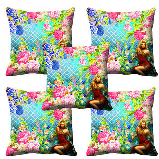 meSleep 3D Beautiful Floral Cushion Cover (20x20) - 20CD-92-071-S5