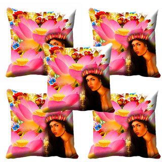 meSleep 3D Beautiful Girl Cushion Cover (20x20) - 20CD-92-081-S5