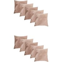 A Pack Of 10 Pcs, Vaachie Home Printed Swiss Dot Cushion Cover