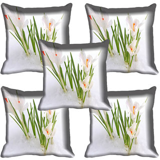 meSleep Flower Digital printed Cushion Cover (20x20) - 20CD-64-234-05