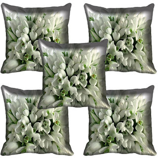 meSleep Flower Digital printed Cushion Cover (20x20) - 20CD-64-248-05