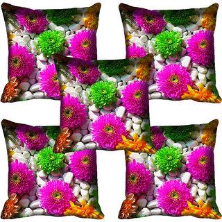 meSleep Floral Digital Printed Cushion Cover 20x20 - 20CD-81-046-05