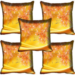 meSleep Yellow Flowers Digital Printed Cushion Cover 20x20 - 20CD-83-23-05