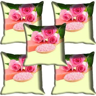 meSleep Pink Rose Digital Printed Cushion Cover 20x20 - 20CD-83-24-05