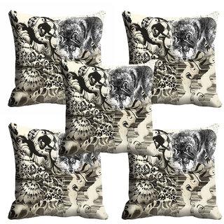 meSleep Abstract Animal Cushion Cover (20x20) - 20CD-92-186-S5