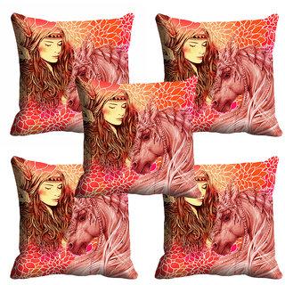 meSleep Abstract Sweet Girl Cushion Cover (20x20) - 20CD-92-200-S5