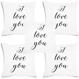 meSleep I Love You White Digital Printed Cushion Cover (20x20) - 20CD-93-001-S5
