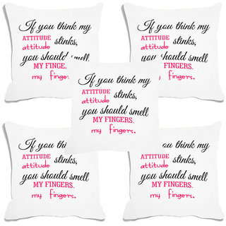 meSleep White Quotes Digital Printed Cushion Cover (20x20) - 20CD-93-027-S5