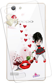 Snooky Printed Transparent Silicone Back Case Cover For Oppo A33