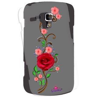 Snooky Printed Transparent Silicone Back Case Cover For Samsung Galaxy S Duos S7562