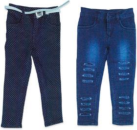 Designer Girls Jeans Combo, Pack of 2