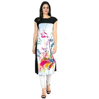 ButterFly Printed Multicolor Kurtis