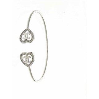 Anuradha Art Silver Finish Simple /& Stylish Hand Bracelet//Kada for Women//Girls