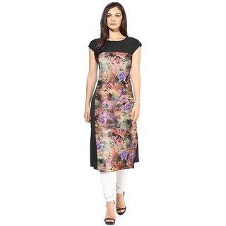 Designer  Multicolor  Floral Printed Kurtis
