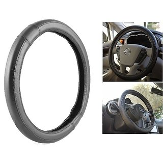 NS Group Premium Quality  Black Steering Wheel Cover For Nissan Evalia