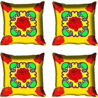 meSleep Red Rose Digital Printed Cushion Cover 18x18 - 18CD-82-072-04