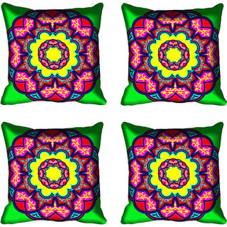 meSleep Beautiful Floral Digital Printed Cushion Cover 18x18 - 20CD-82-087-04