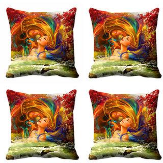 meSleep 3D Multi Colour Nature  Cushion Cover (18x18) - 18CD-92-193-S4