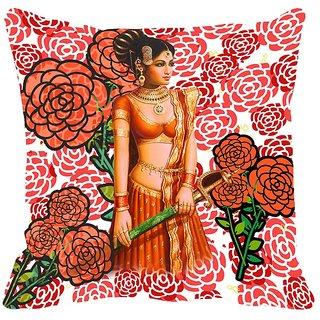 meSleep Lady Digitally Printed Cushion Cover (12x12) - 12CD-23-019