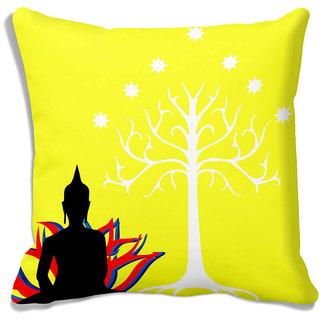 meSleep Saint Tree Yellow Cushion Covers - 12CD-40-09