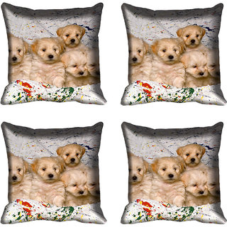 meSleep Dog Digital printed Cushion Cover (18x18) - 20CD-68-217-04