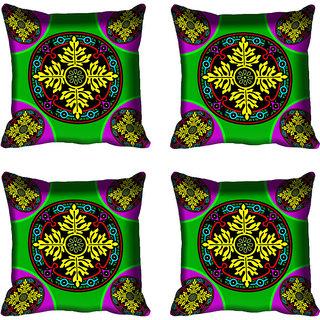 meSleep Ethnic Floral Digital Printed Cushion Cover 18x18 - 20CD-82-088-04