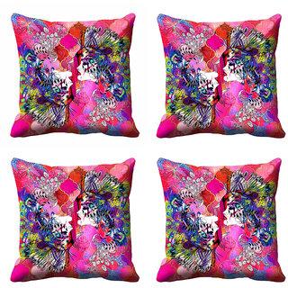 meSleep Abstract Pink  Cushion Cover (18x18) - 18CD-92-194-S4