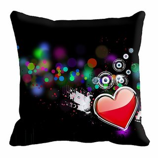 meSleep Heart Digitally Printed 12x12 inch  Cushion Cover - 12CD-24-21