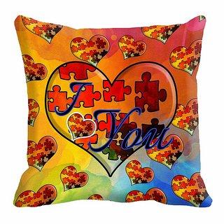 meSleep Heart Digitally Printed  12x12 inch Cushion Cover - 12CD-24-38