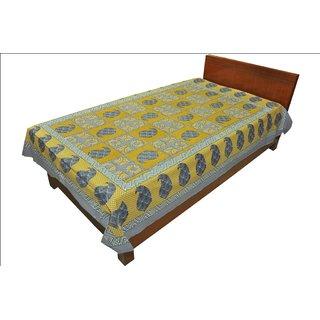 Original Rajasthani Mughal Printed Pattern Single Bed Sheet for Gifting SRB2147