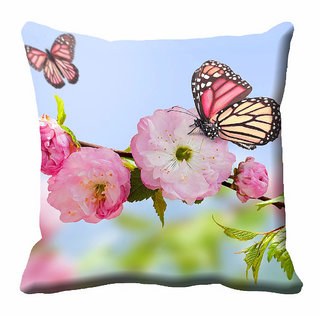 meSleep Multi Colour Nature Cushion Cover (12x12) - 12CD-92-171