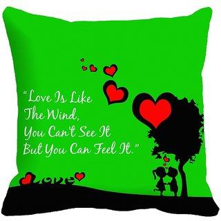 meSleep Heart Digitally Printed 18x18 inch Cushion Cover - 18CD-25-07