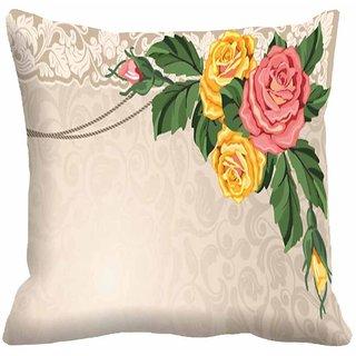 Mesleep Flower Digitally Printed  12x12 Inch Cushion Cover Cute - 12CD-29-35