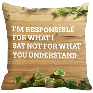 Mesleep Quotes Digitally Printed Cushion Cover (18x18)   Bewitching - 18CD-33-18