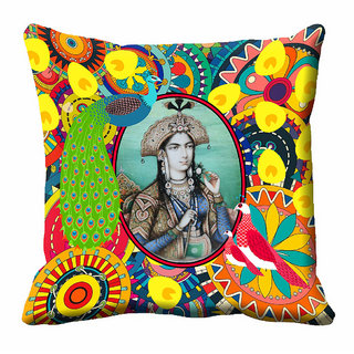 meSleep 3D Multi Colour Rani Cushion Cover (12x12) - 12CD-92-161