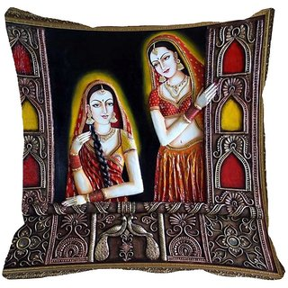 Mesleep Queen Digitally Printed Cushion Cover (18x18)   Staggering - 18CD-33-06