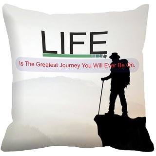 Mesleep Quotes Digitally Printed Cushion Cover (12x12)   Dazzling - 12CD-33-25