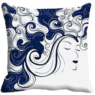 Buy meSleep Girl Face Digitally Printed Cushion Cover (18x18) - 18CD ... 663fa9f34